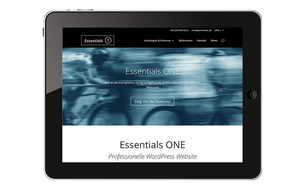 Essentials ONE – fix & fertige WordPress Website